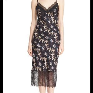 DVF Margarit (Look 7) Print Silk Slip Dress